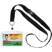 DURABLE, DBL826819, Safety Lanyard Shell-Style ID Card Holder, 10 / Box, Clear