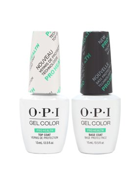 ($36 Value) OPI Gelcolor Gel Nail Polish, ProHealth Base Coat & Top Coat Duo Pack, 0.5 Fl Oz Each