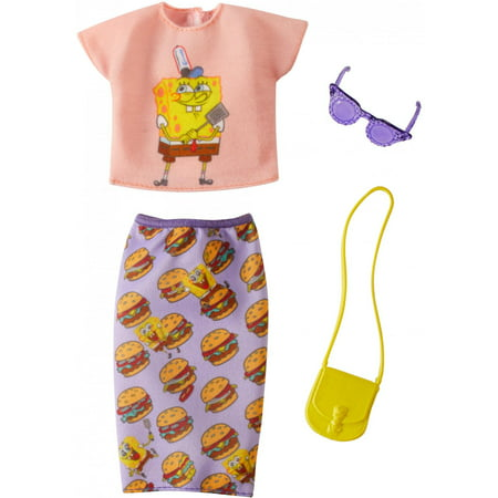 Barbie Spongebob Squarepants Themed Fashion Pack with Accessories