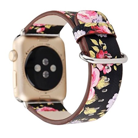 Designer Series Leather Apple Watch Band for Women by Pantheon (38mm)