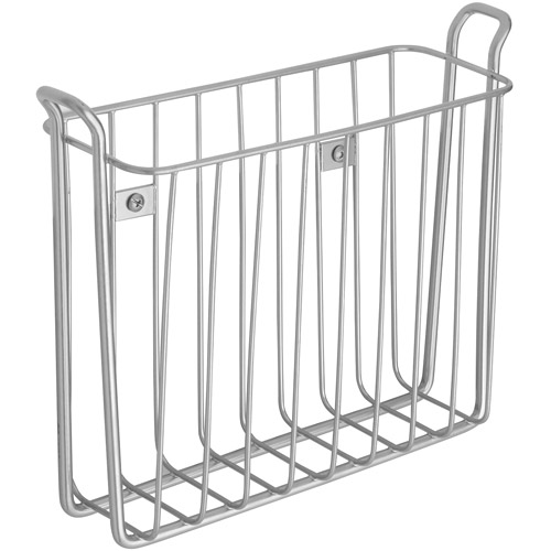 Classico Wall Mount Magazine Rack, Silver