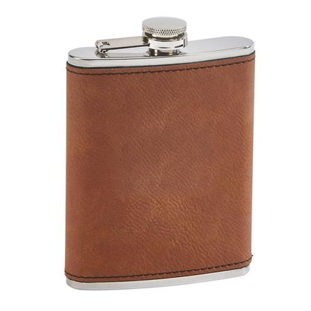 Creative Gifts International 002320 Leatherette Flask, - Leatherette Flask