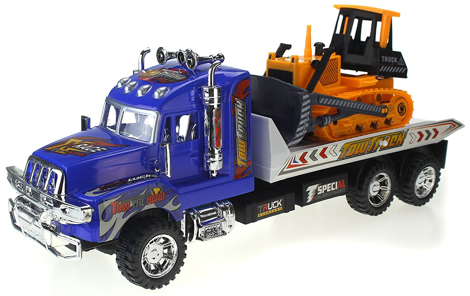 Super Speed Power Friction Powered Construction Toy Tow Truck w  Friction Power, &... by Velocity Toys