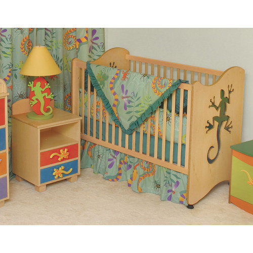 Room Magic Little Lizards 2-in-1 Convertible 6 Piece Crib Set