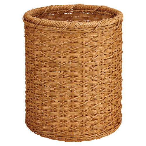 Organize It All Organize It All Natural Round Wicker Wastebasket