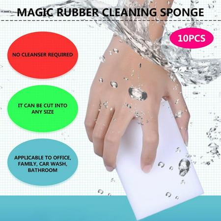 10 Pcs Magic Sponge Eraser Clean Cleaning Multi-functional Foam Cleaner White - image 2 of 7