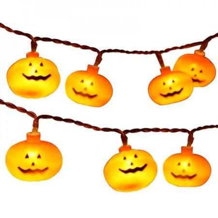 2.5M 20 Light Halloween Pumpkin String Light Lamp For Halloween Props Party Home Garden Outdoor Decoration Lantern Light