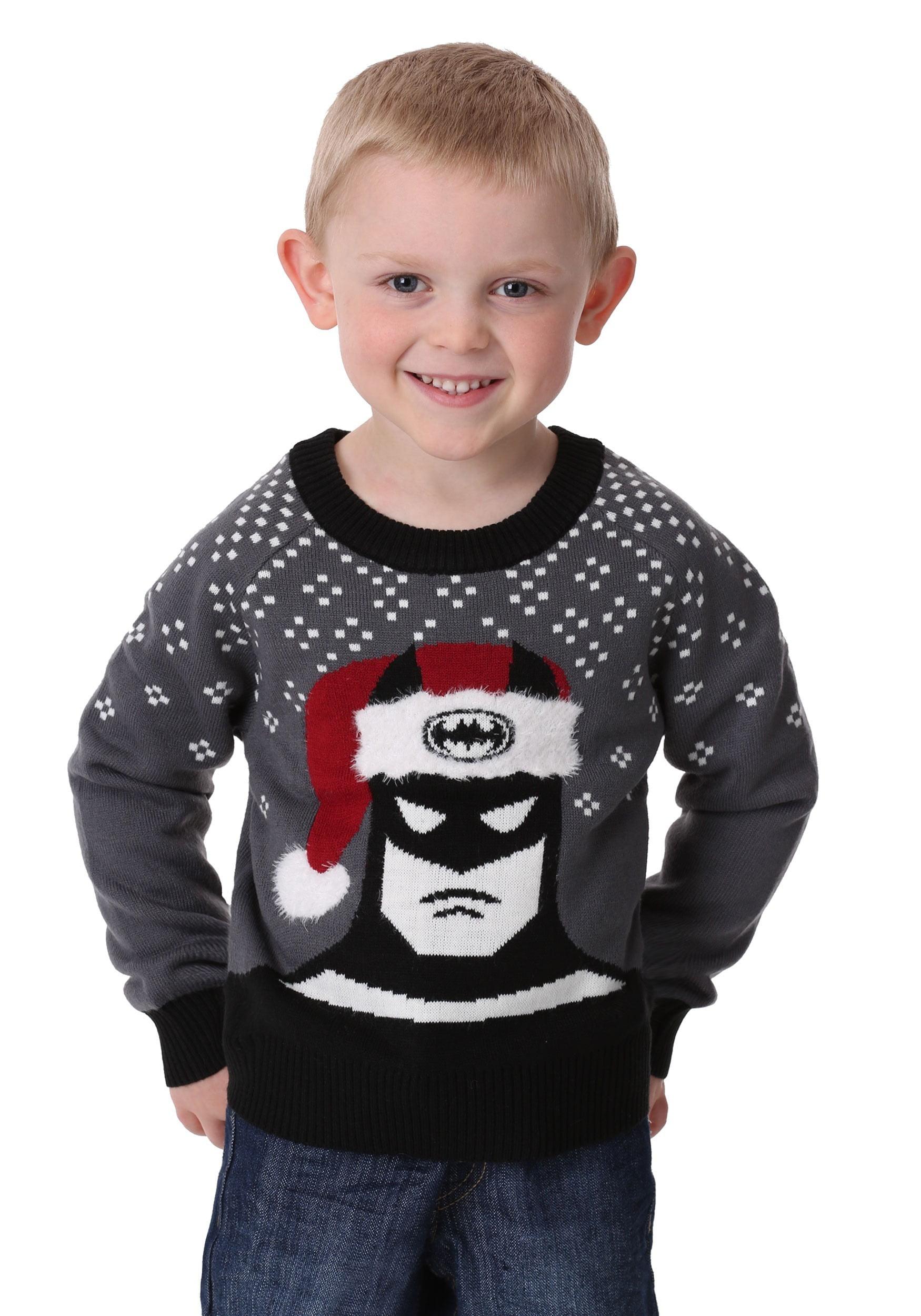 Batman Holiday Hat Kids Ugly Christmas Sweater