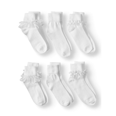 Lace Dress Socks, 6 Pairs (Little Girls & Big Girls)