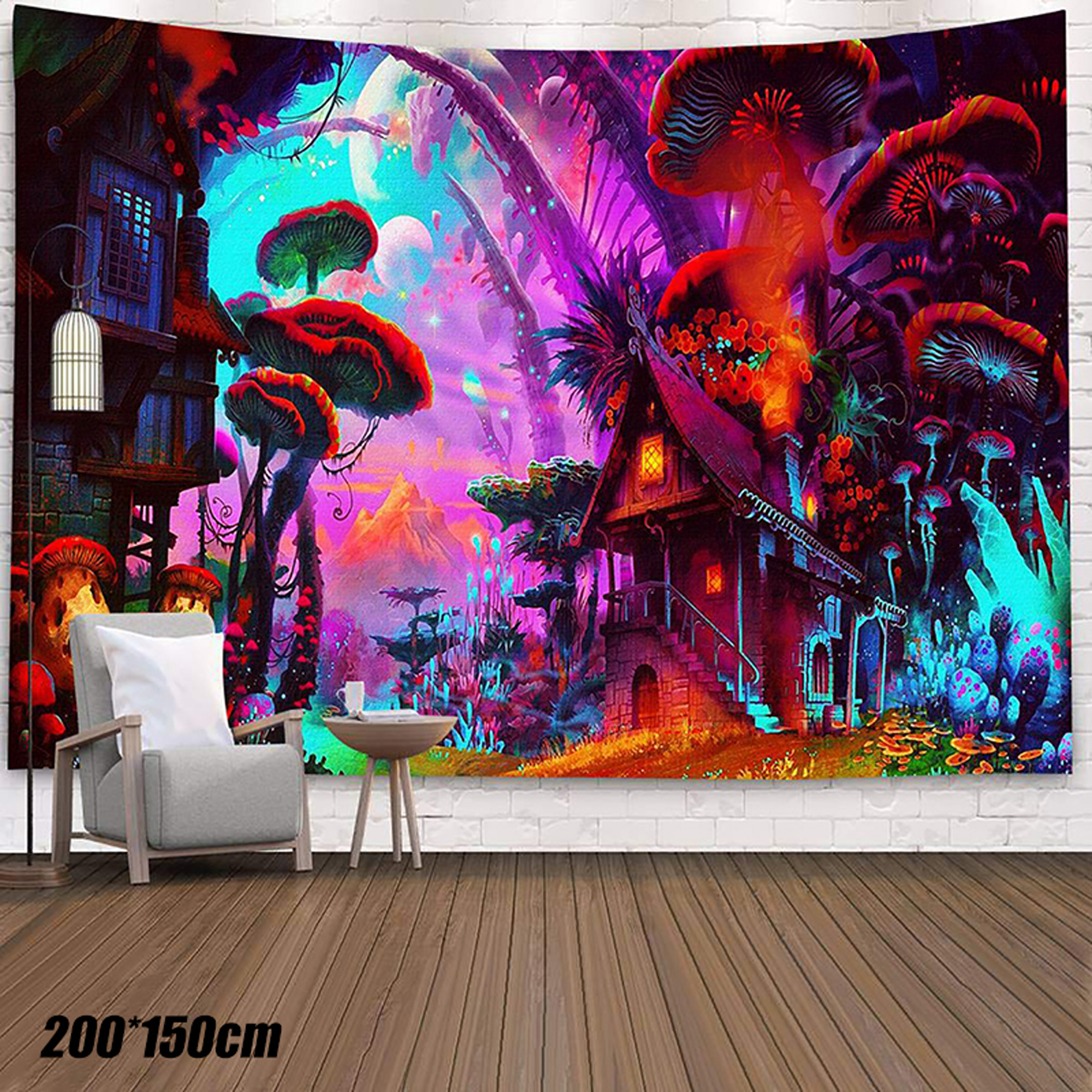 Psychedelic Halloween Tapestry Wall Hanging Home Wall Blanket Hanging Tapestries