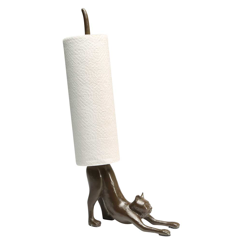 What On Earth Yoga Cat Paper Towel Holder Cast Iron Stretching Cat Counter Top Walmart Com Walmart Com