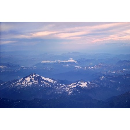 LAMINATED POSTER Mountains Altitude Summit Top Peak High Sky Blue Poster Print 24 x 36