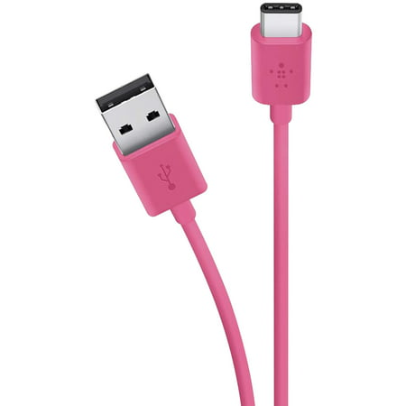 Belkin F2CU032bt06-PNK MIXIT↑ Charge & Sync 2.0 USB-A to USB-C Cable, 6ft (Pink) (Belkin Ac Charge Kit)