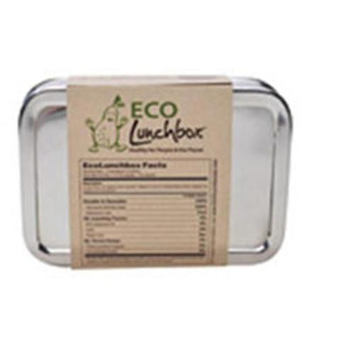 ECO Lunchboxes Stainless Steel Lunchboxes & Trays Solo Rectangle Large Lunchbox 4 3/4 x 6 3/4 x 2 BPA-Free 224584