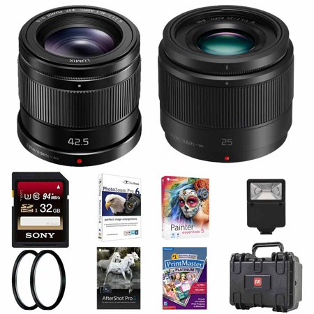 Panasonic LUMIX G 42.5mm f/1.7 & 25mm f/1.7 ASPH. Lens w/ 32GB Accessory