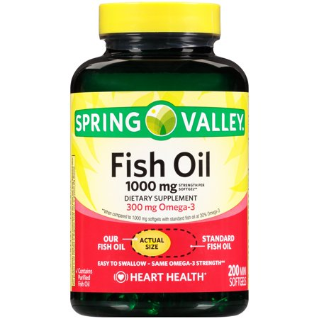 Spring Valley Fish Oil Mini Softgels 1000 Mg 200 Ct