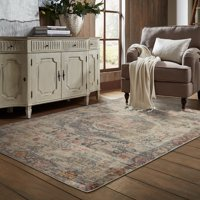 """Style Haven Antiqued Scalloped Medallion Ivory/ Multi Area Rug - 6'7"""" x 9'6"""""""