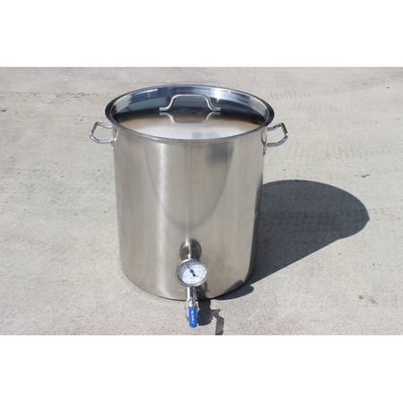 Concord Cookware Stainless Steel 80 Qt. Home Brew Kettle with 2 Welded on Couplers