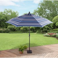 Better Homes and Gardens 9' Market Umbrella, Blue Stripe