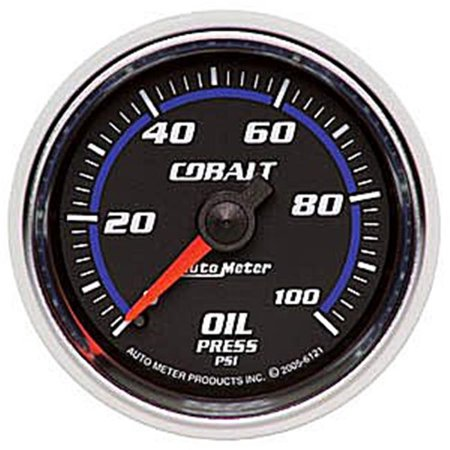 AUTO METER 6121 Cobalt Short Sweep Gauge Oil Pressure - 100 Psi - image 2 of 2