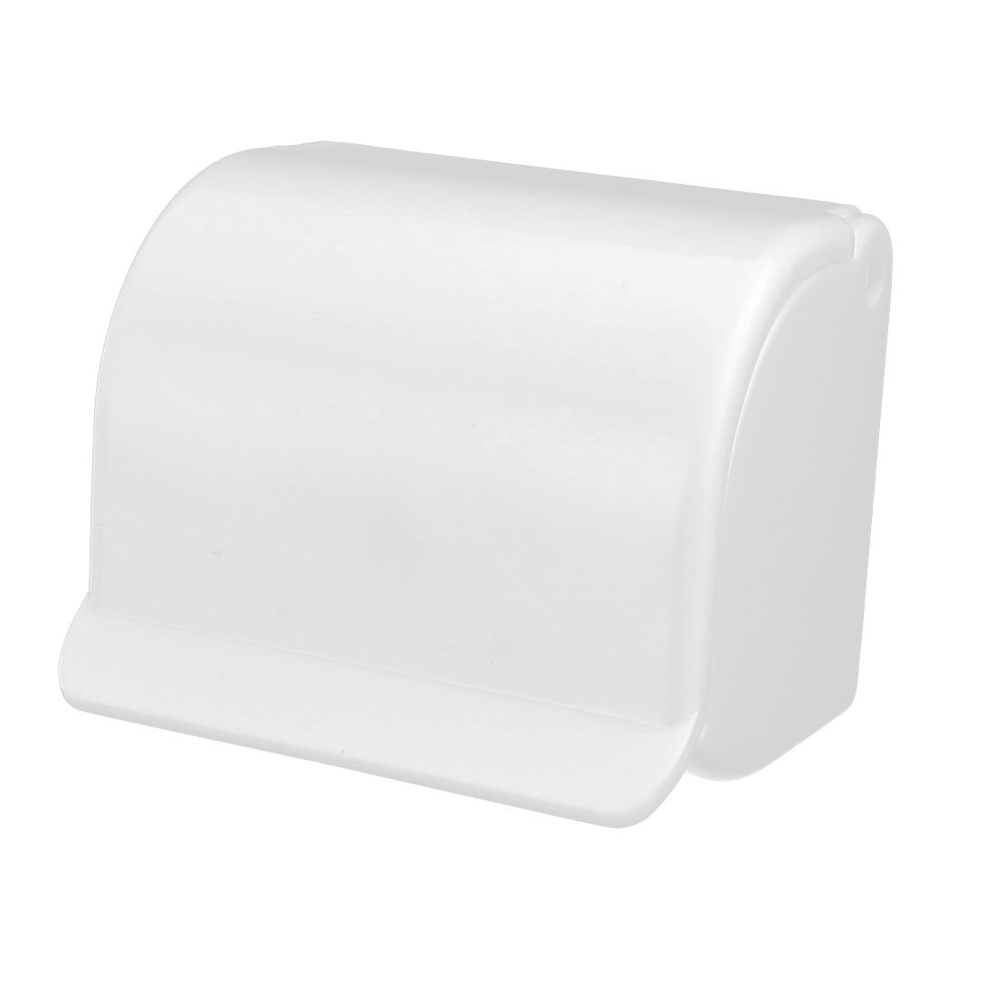 Man Bathroom Plastic Paste Strap Hanger Storage Rack Shaver Razor Holder White - image 5 de 5