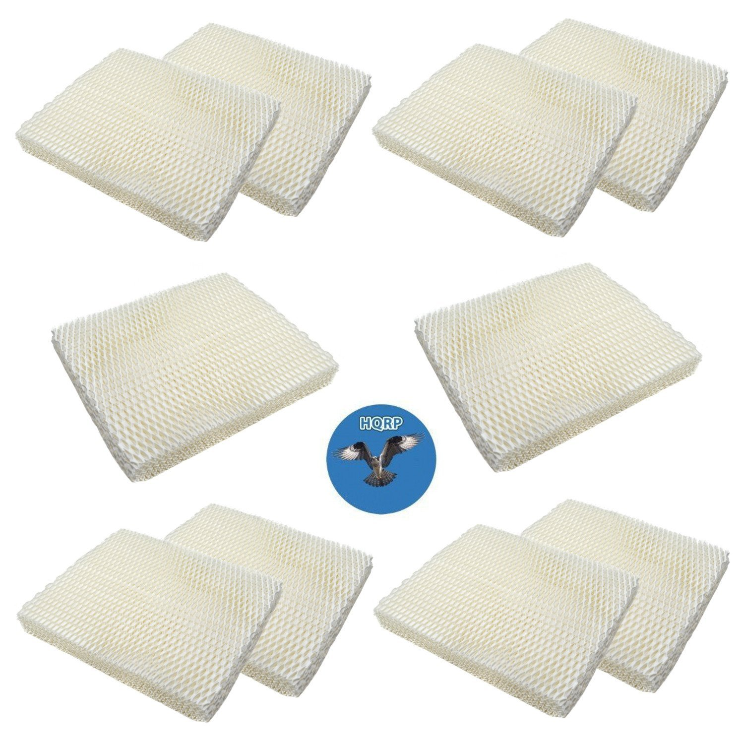 HQRP 10-pack Wick Filter for Holmes HM1000 HM1025 HM1050 HM2000 HM1550 HM1555 Humidifiers, HWF-55 HWF55 H55-C Replacement + HQRP Coaster