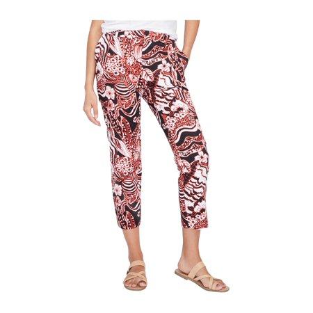 Rachel Roy Womens Printed Casual Cropped Pants blackcombo 6x28 - image 1 de 1