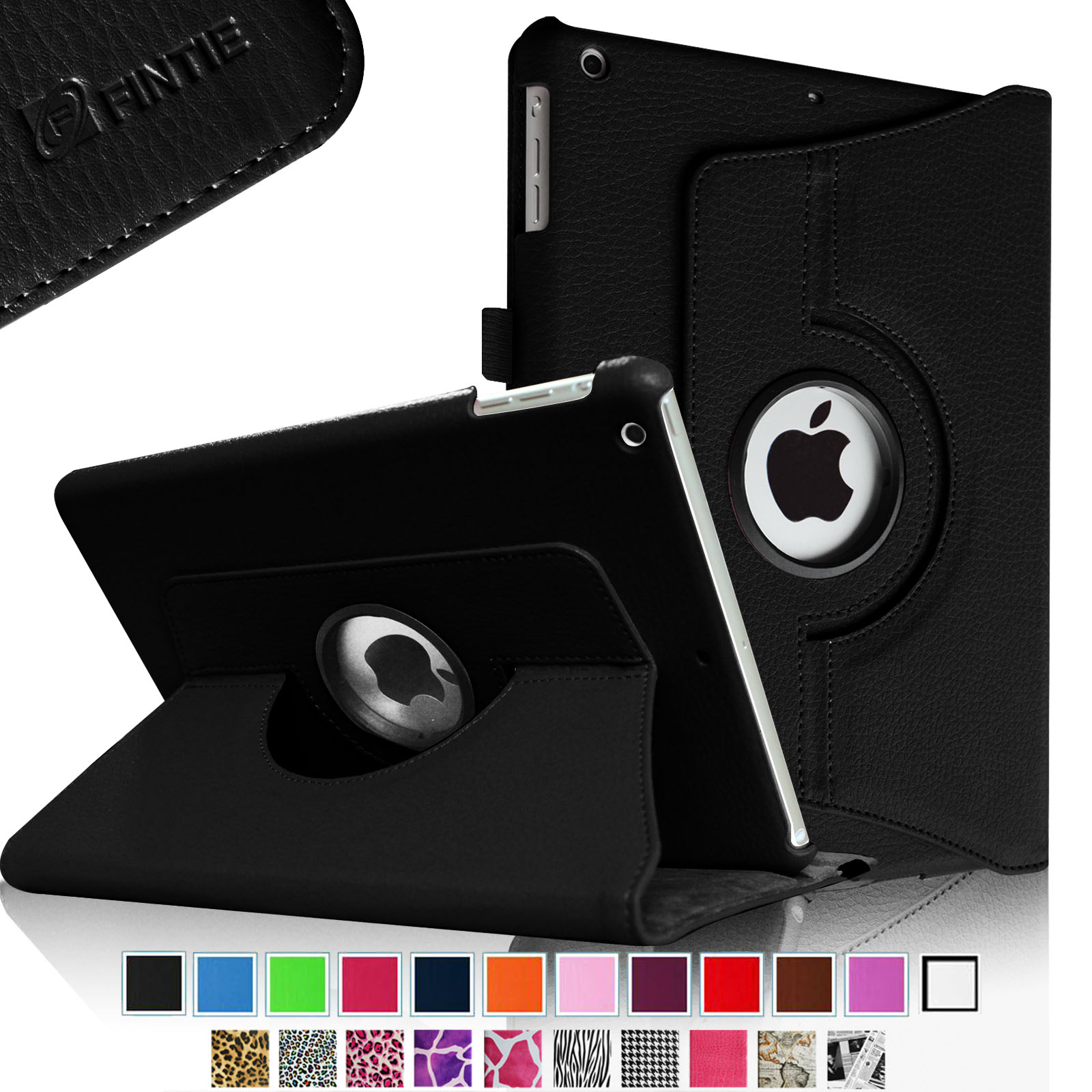 iPad mini 3 / iPad mini 2 / iPad mini Rotating Case - Fintie Multi-Angle Stand Smart Cover with Auto Sleep/Wake, Black