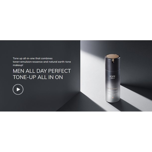 [ IOPE ] Men All Day Perfect Tone-Up All in One SPF15, 120ml / 4.05 fl.oz.