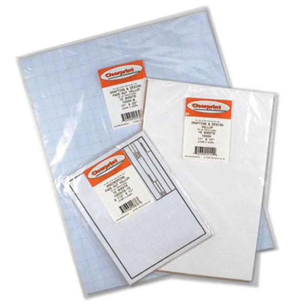 """Clearprint 1000H Transparent Vellum Plain Sheets 24x36"""""""""""