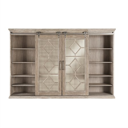 Liberty Furniture Industries Mirrored Reflections Entertainment Center with Piers
