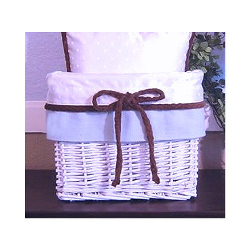 Brandee Danielle Blue Chocolate Wicker Basket