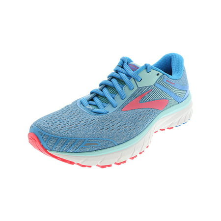 43e2e454fce Brooks - Brooks Women s Adrenaline Gts 18 Blue   Mint Pink Ankle-High Nylon  Running Shoe - 8M - Walmart.com
