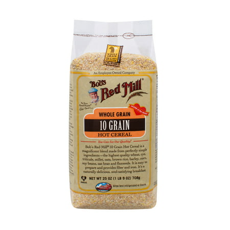 (3 Pack) Bob's Red Mill Hot Cereal, 10 Grain, 25 Oz Arrowhead Mills Hot Cereal