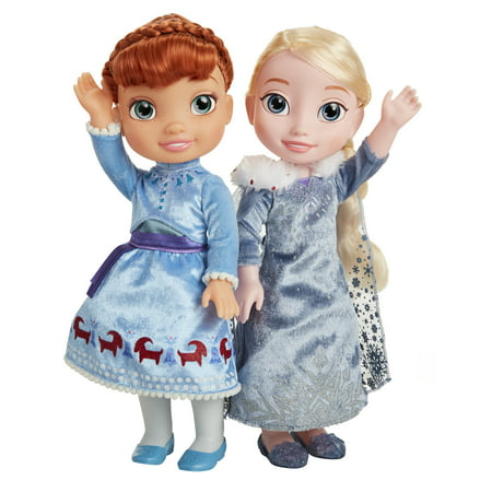 Disney Frozen Olaf's Frozen Adventure Singing Traditions Elsa & Anna (Elsa Dress From Frozen Movie)