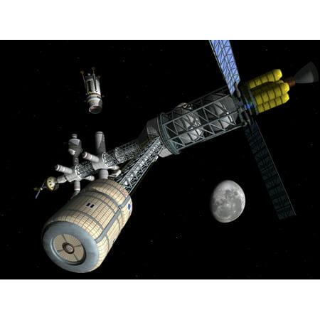 Lunar cycler centrifuge Canvas Art - Walter MyersStocktrek Images (33 x 25)