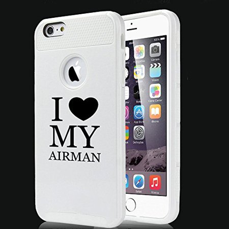 Apple iPhone 5c Shockproof Impact Hard Case Cover I Heart Love My Airman Air Force (White),MIP