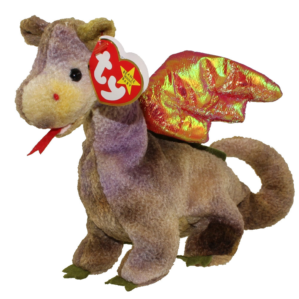 TY Beanie Baby - SCORCH the Dragon (7 inch)