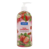 Lucky Super Soft 2291248 14 oz Fresh Strawberries Hand Soap - Case of 48