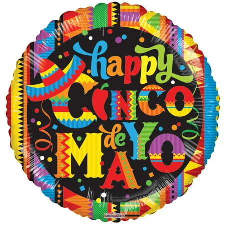 Cinco de Mayo 18 Inch Mylar Balloon (1/Pkg) Pkg/10 (Cinco De Mayo Dog)