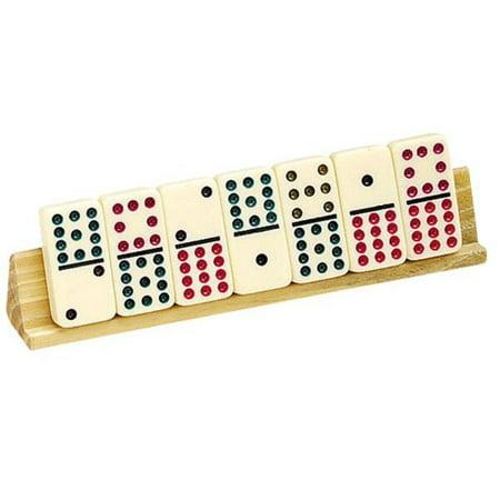 """2 Piece 8"""" Wooden Domino Holder"""