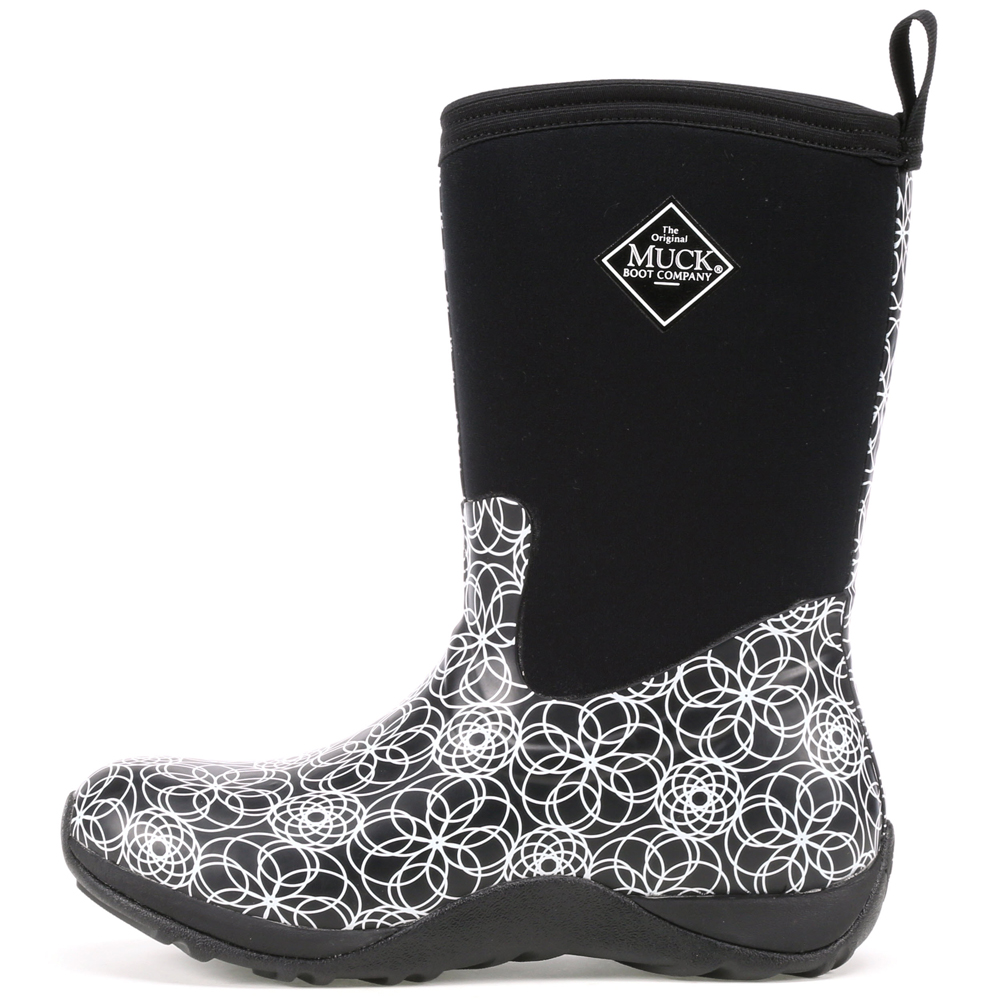 Muck Boot Women's Arctic Weekend Snow Boots Black Neoprene Rubber Fleece 5 M