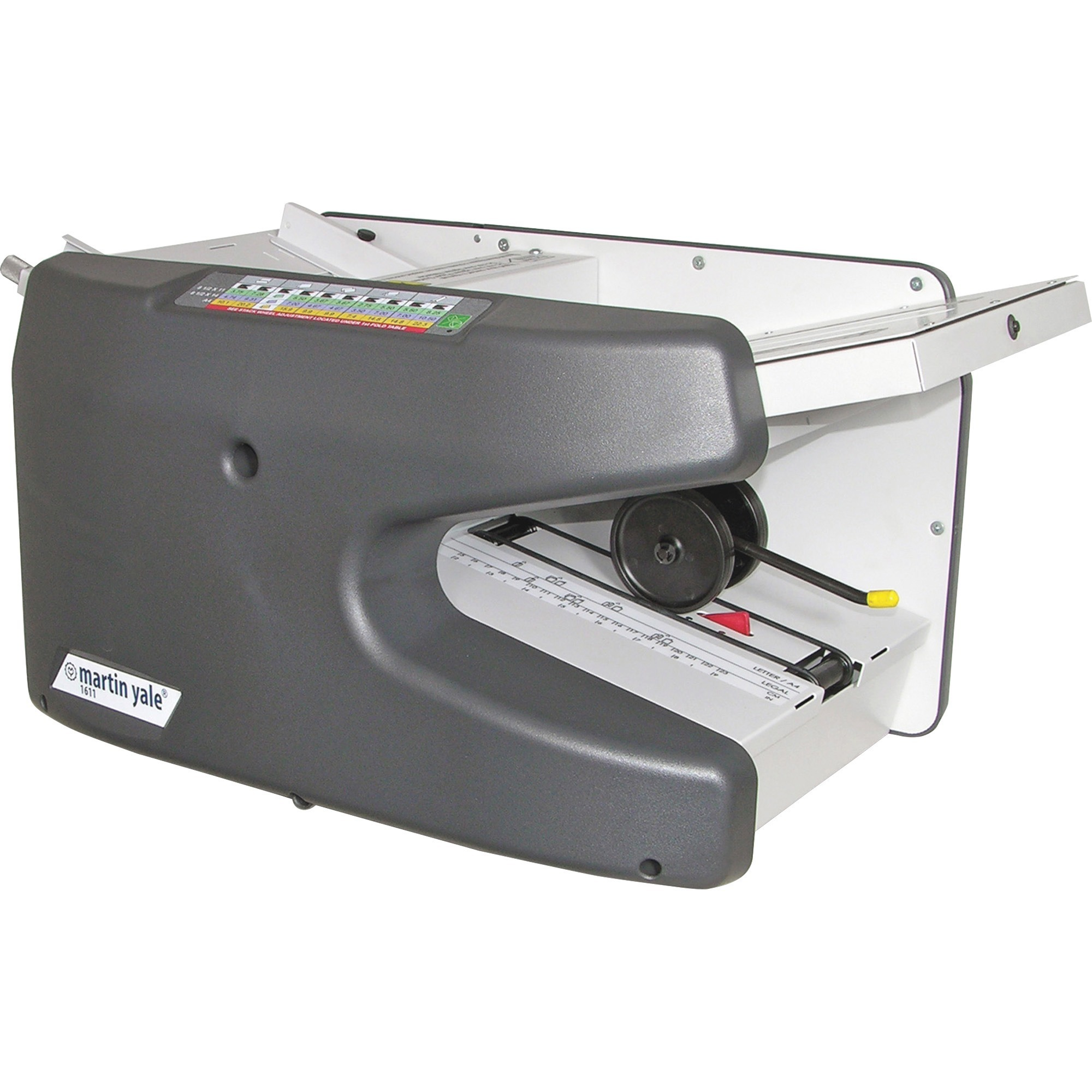 Martin Yale, PRE1611, Premier 1611 Ease-Of-Use Autofolder, 1 Each, Charcoal