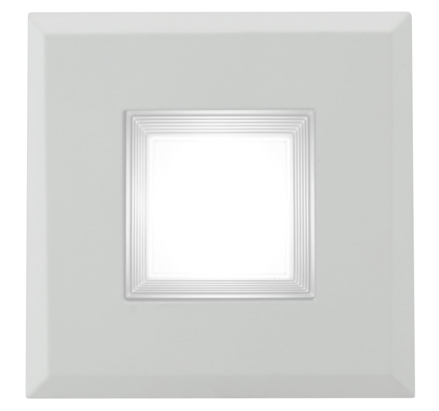 White DQR3-10-120-2K-WH-BF NICOR Lighting 3-Inch Square 2700K LED Recessed Downlight Retrofit Kit