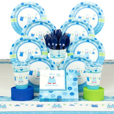shower deluxe tableware kit serves 8 baby shower party supplies