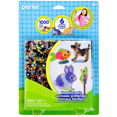Perler Fun Fusion Fuse Bead Activity Kit, Favorite Pegs