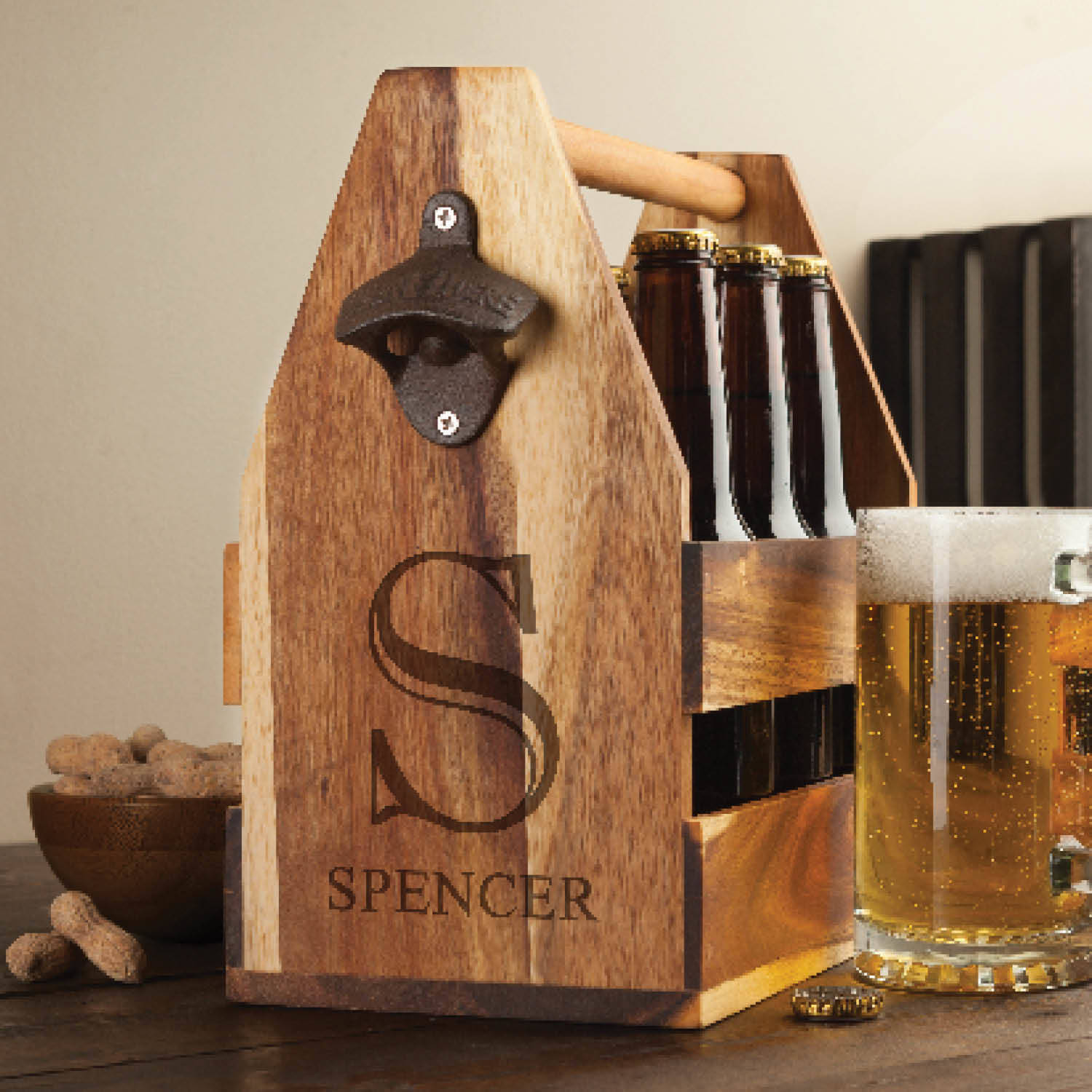Monogram Personalized Beer Caddy
