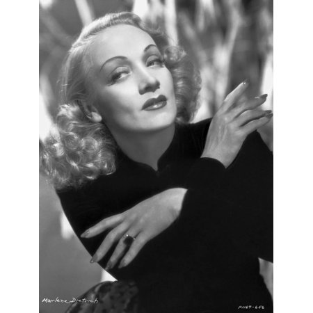 Marlene Dietrich Posed in Black Suit with Arm's Cross Print Wall Art By AL Schafer - Pope Suit