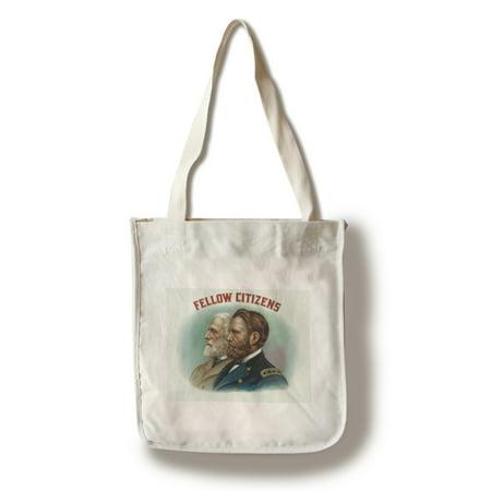 - Fellow Citizens Brand Cigar Box Label (100% Cotton Tote Bag - Reusable)
