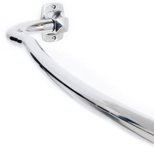 Elegant Home Fashions Adjustable Curved Shower Rod, Chrome